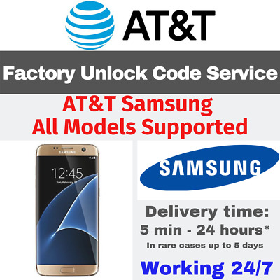 At&t Unlock Code Service For Samsung Galaxy S2 S3 S4 S5 S6 S7 Note 3 4 5 Active