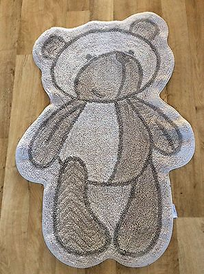 Mothercare Large Nursery Please Look After Me Bear Mat Rug, Neutral VGC