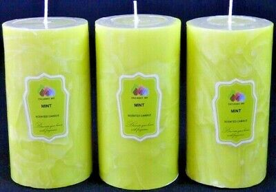 B-TIME PER CANDLE 30 HRS PRO 15 SMALL SNOWFROST SCENTED  PILLAR CANDLES