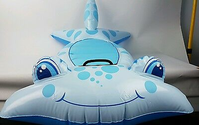 104Cm Long Ride On Hammerhead Shark Inflatable Ride On Floating Pool Toy