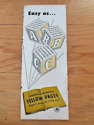 1950s Yellow Pages Telephone Phone Directory Advertising Blotter Testimonials