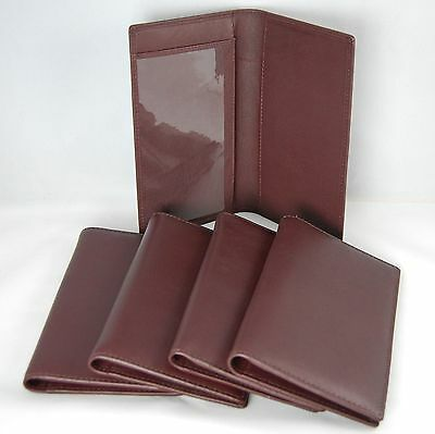 Mohawk Extremely Soft Checkbook Cover in Burgundy Genuine NDM Leather