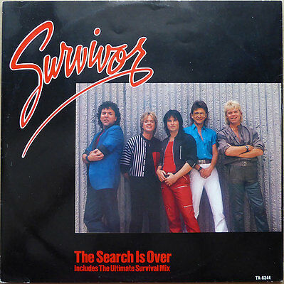 "12"" Survivor - The Search Is Over - The Ultimate Survival Mix - UK 84 - VG++"
