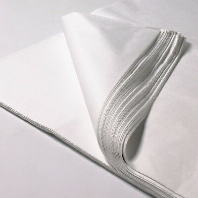 "10 Sheets of 18"" x 28"" White Acid Free Tissue Paper 18 GSM 450 x 700mm Wrapping"