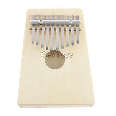 1x Vintage Wooden White 10 Notes Thumb Piano Instrument Easy to Build & Play