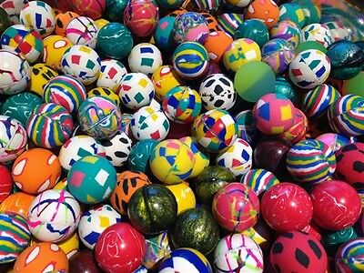 "500 Premium Quality One Inch 27mm Super Bounce Bouncy Balls 1"" Our Exclusive Mix"