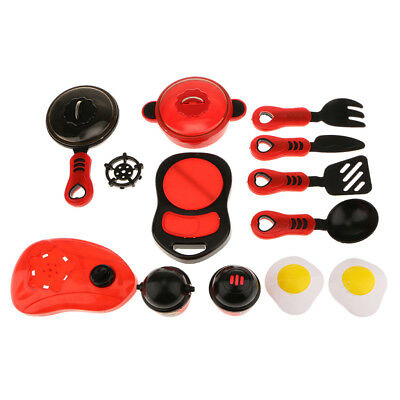 Kids Children Play Fun Kitchen Cookware Role Play Pretend Toy Xmas Gift Kit
