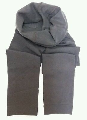 Girls Good Quality Grey Fleece Lined Footless Tights 9-10 Yrs  No. 212