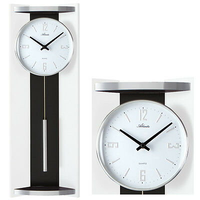 uhr mit pendel wanduhr k chenuhr esszimmeruhr wohnzimmeruhr pendeluhr 47888t eur 129 95. Black Bedroom Furniture Sets. Home Design Ideas