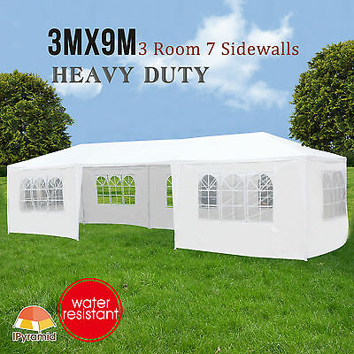 3Mx9M Party Tent Commercial Gazebo Pavilion Cater Marquee Canopy Outdoor Event