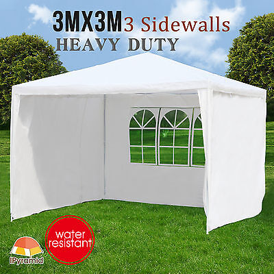 New 3Mx3M Party Wedding Tent Gazebo Marquee Canopy Pavilion Outdoor Event White