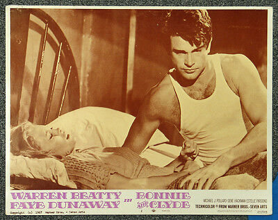 Bonnie And Clyde '67 Warren Beatty Faye Dunaway Lobby Card