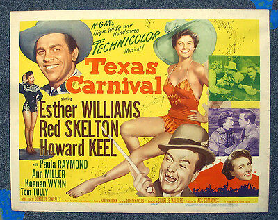 Texas Carnival '51 Esther Williams Skelton Keel Rolled Half Sheet Musical MGM