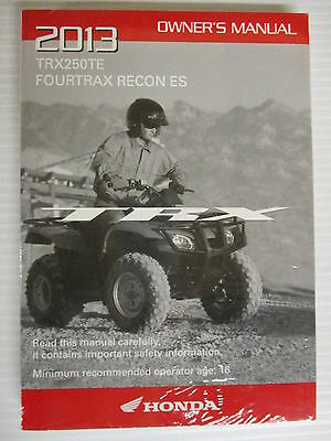 trx250te fourtrax recon es owner s manual 14 95 picclick rh picclick com 1986 honda trx 250 owners manual 2006 honda trx 250 owners manual