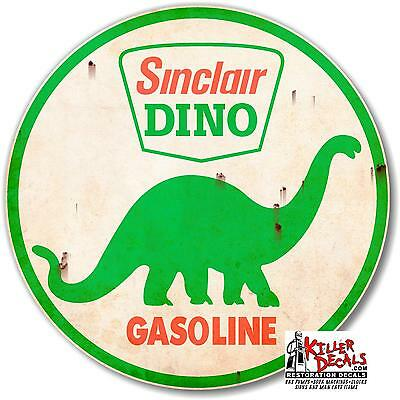 "SINC-STA-1R 6/""X18/"" RUSTY LOOKING SINCLAIR FREE AIR decal gas pump oil man cave"