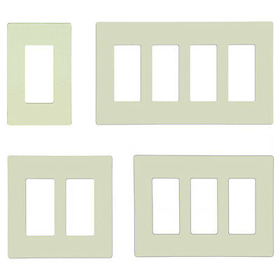 Screwless Decorator GFCI Outlet Covers Rocker Switch Wall Plate 1-5 Gang Almond
