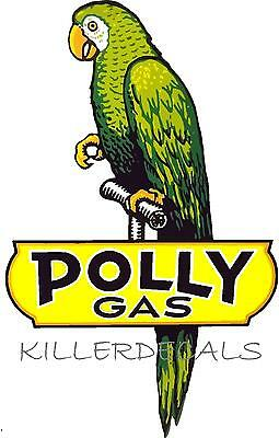 "(Poll-1)  6"" Polly Gasoline Decal Gas And Oil For Gas Pump, Sign Sticker"