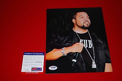 rapper Ice Cube Boyz N The Hood signed psa/dna 8x10 straight outta compton