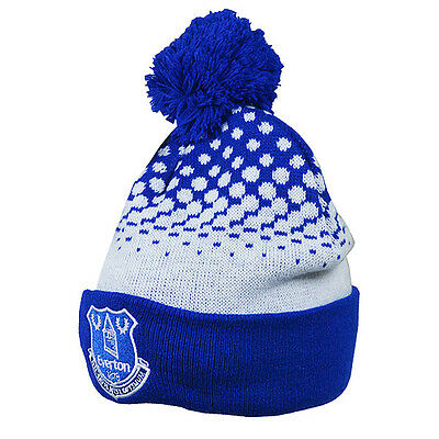 Official Everton FC Bobble Beanie  Fade Hat FREE (UK) P+P