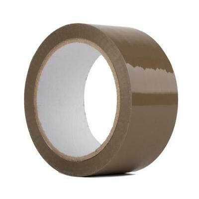 72 Big Rolls Of Brown Buff Parcel Packaging Packing Tape 48Mm X 66M Cellotape