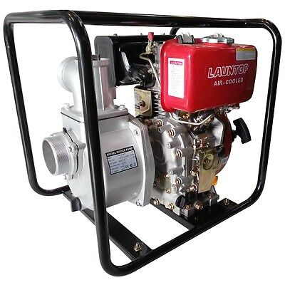 """3.0"""" Water Pump 6HP Diesel Engine with Electric Start - LAUNTOP"""