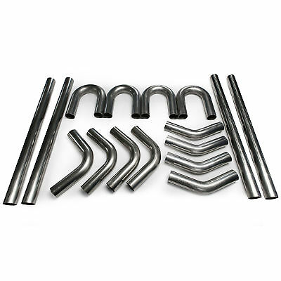 "2.5"" 304 Stainless Mandrel Bend Kit 45 180 90 Degree Straight Tubing Exhaust"