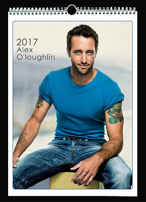 Alex O'Loughlin 2017 Wall Holiday Calendar Steve McGarrett Hawaii Five