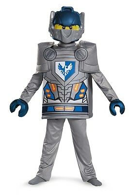 Lego Nexo Knights Deluxe Clay Child Costume, Grey/Blue, Disguise