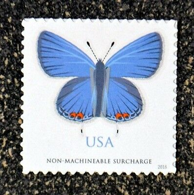 USA2016 #5136 68c Eastern Tailed-Blue Butterfly Single - Non Machineable Rate