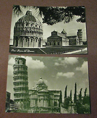 Postcards Vintage Italy Piazza del Duomo Leaning Tower