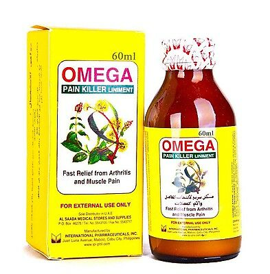 Omega Pain Killer Liniment Fast Relief from Arthritis and Muscle Pain 60ml