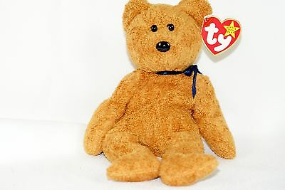 Ty Beanie Baby FUZZ 1996 Soft Bear w/ Tag ERRORS Plush Toy RARE NEW RETIRED