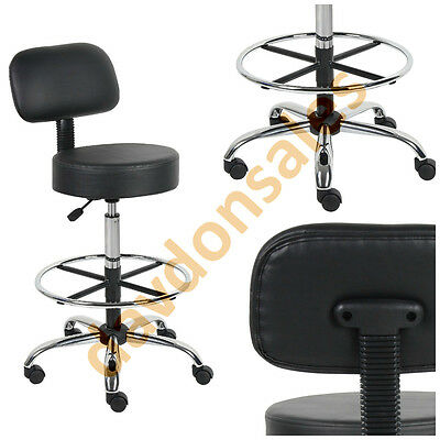 Medical Chair Lab Drafting Stool Adjustable Office Bar Tall Bench Desk Foot Rest