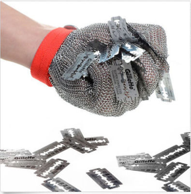Level 5 Safety Cut Proof Stab Resistant Stainless Steel Metal Mesh Butcher Glove