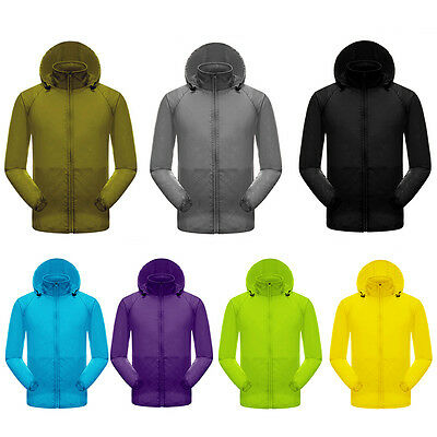 Waterproof Windproof Jacket Mens Womens Rain Coat Outdoor Sports Cycling Riding
