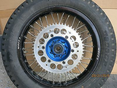 "Rear Wheel Kit Yamaha - Rear 18"" x 2.15"" Blue Hub Black Rim"