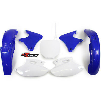 NEW Racetech MX Yamaha YZ400F 1998 1999 RTECH Blue White OEM Plastics Kit