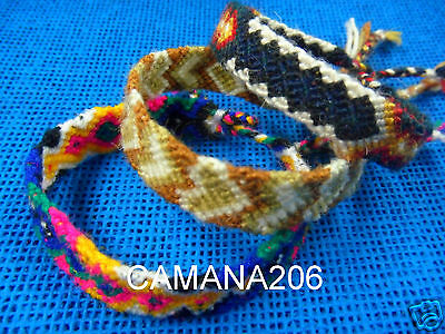 20 Peruvian 100 % Wool Friendship Bracelets **handmade In Cusco**