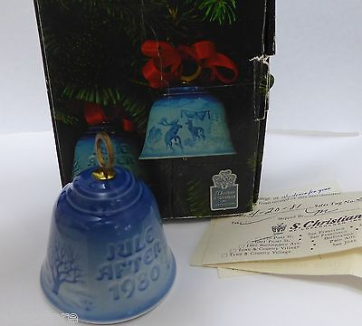 Bing & Grondahl Bell Christmas In The Woods 1980 Porcelain with Box