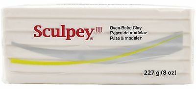 SCULPEY III - Polymer Clay - 227 gm BLOCK - TRANSLUCENT