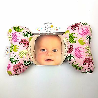 Baby Elephant Ears Head Support Pillow, Pink Elephant - NEW