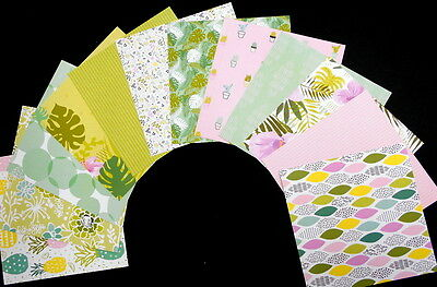 "*SUMMERTIME*  Colourful Scrapbooking/Cardmaking Papers - 15cm x15cm (6"" x 6"")"
