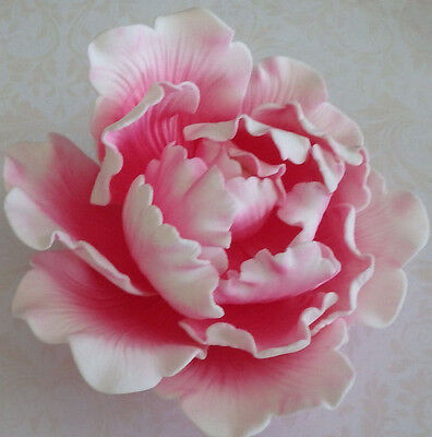Large Pink Peony Sugar flower wedding birthday cake decoration topper