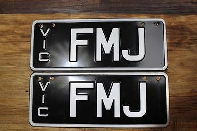 VIC Personalised / Custom Number Plate FMJ