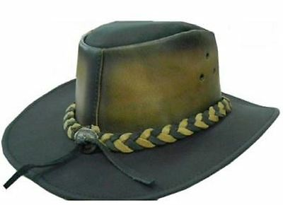 Celebrita Cow Leather Legacy Cowboy Leather Hat Brown