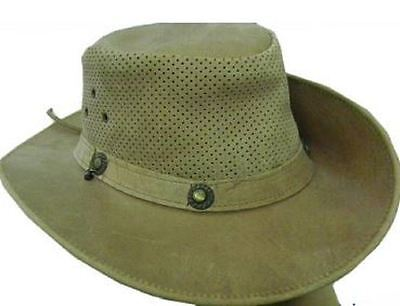 Celebrita Cow Leather Classy Cowboy Leather Hat Brown