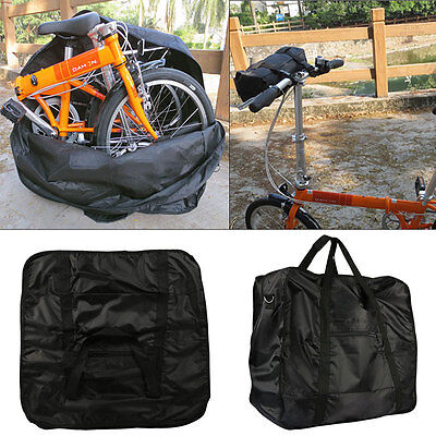 """Bicycle Bike Folding Carrier Bag Carry Cover for Dahon 14""""-20"""" Mountain Holder A"""