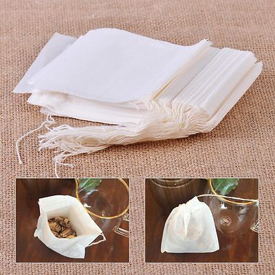 100x Filter Paper Bags Reusable Bath Soap Herbs Tea Cooking Soup Spice 3x4 New