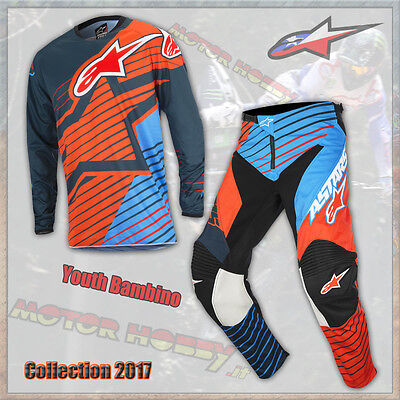 Completo Youth Bambino Alpinestars Racer Braap 2017 Petrol Aqua Orange L - 26