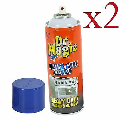 2 X Dr Magic Oven Grill & BBQ Cleaner Heavy Duty Action 2 X 390 ml